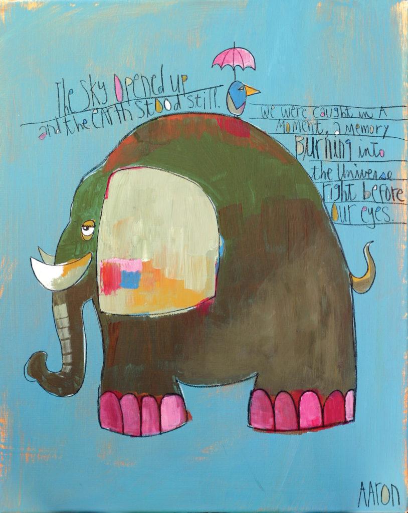 TheBlueHeronAndTheElephant by Aaron Grayum